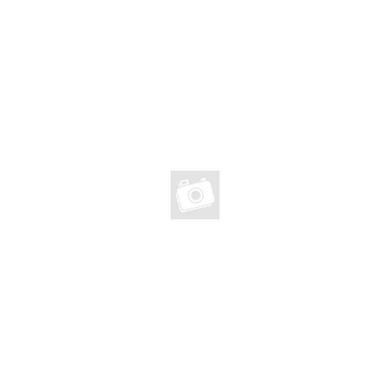 Akasztós zöld-piros hópihés ruhás hóember